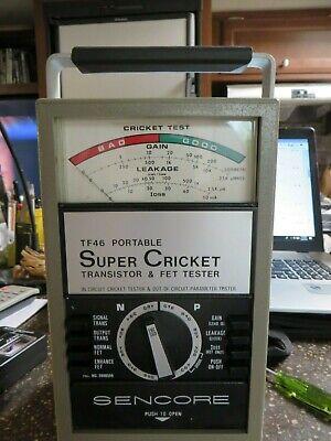 Sencore Tf46 Portable Super Cricket Transistor Fet Tester Very Nice Condition