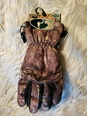 New Break-Up Country Mossy Oak Camouflage Camo Hunting Gloves Size L Thinsulate