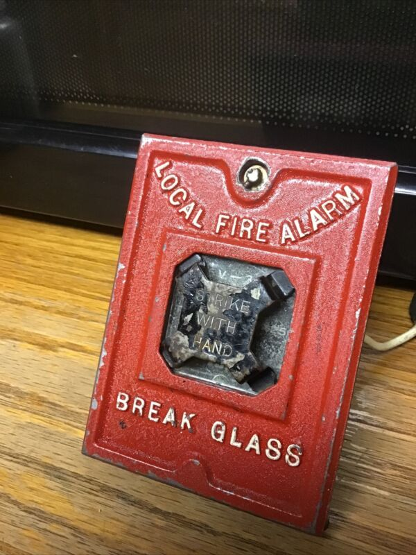 Vintage IBM  Break Glass For Local Fire Alarm Strike With Hand