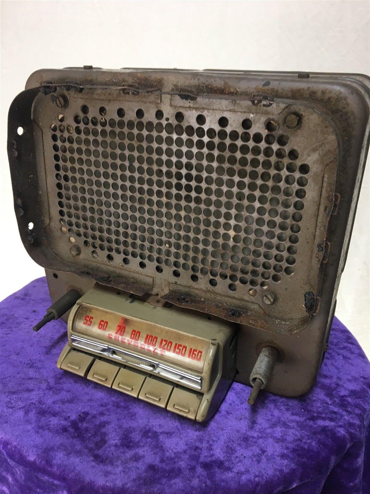 CHEVROLOT 1940's tube radio power speaker box unit cool retro