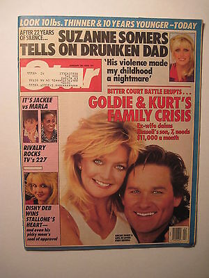 Star Magazine 1 26 1988  Goldie Hawn   Kurt Russell Cover  Suzanne Somers