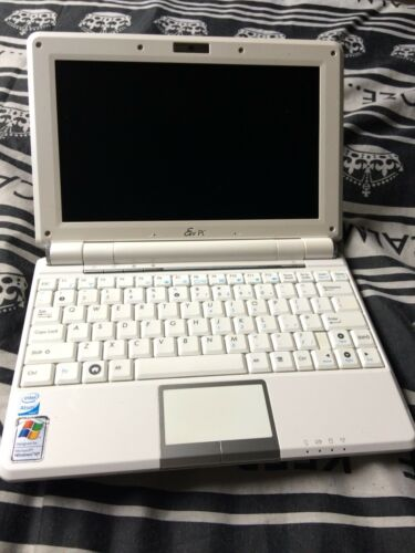 Laptop Windows - Asus 1000h Windows 7 Laptop (Netbook). 80gb HDD, Webcam, WiFi