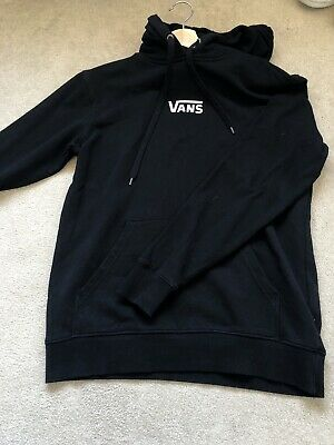 Black mens vans hoody with logo size XS worn once