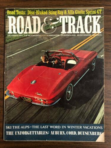 Road and Track Magazine December 1964 Corvette