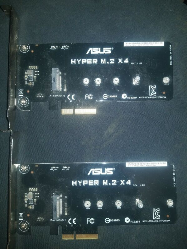 ASUS HYPER M.2 X4 Accessory Cards 2 cards