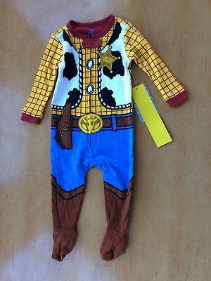 NWT Disney Store Woody Costume Sleeper Pajama Baby Boy Sheriff Toy Story Many Sz