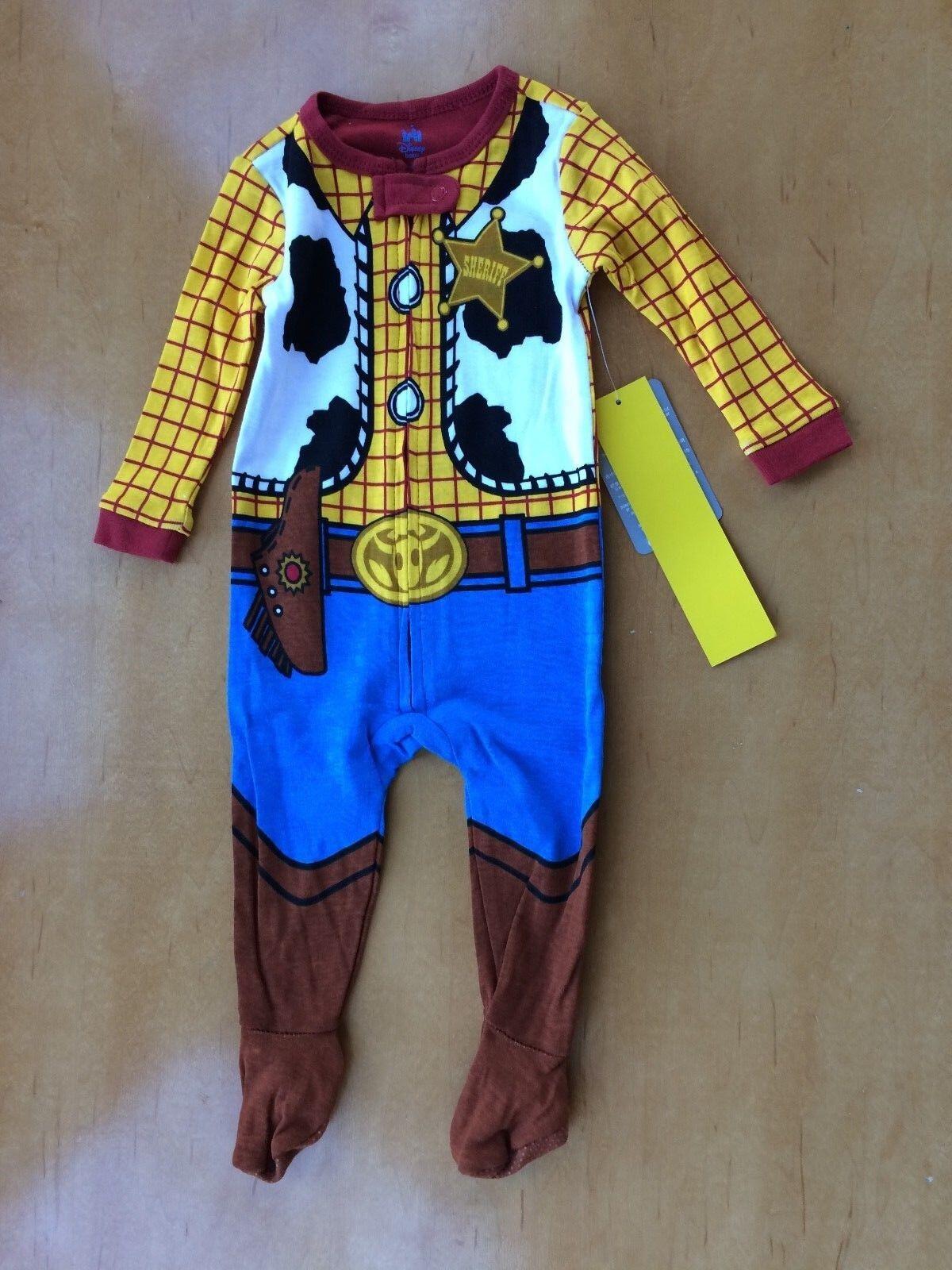 NWT Disney Store Woody Costume Sleeper Pajama Baby Boy Sheri