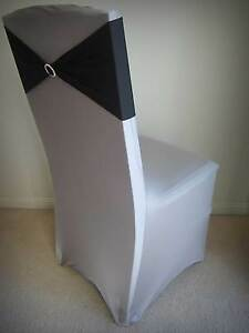 Silver Lycra Chaircovers for hire Brisbane City Brisbane North West Preview