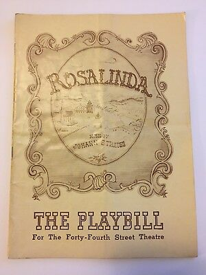 1943 Playbill Rosalinda (Die Fledermaus) Max Reinhardt Production Johann Strauss