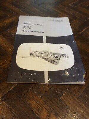 John Deere Aw Disc Harrow Operators Manual Om B25036 Issue H9 4