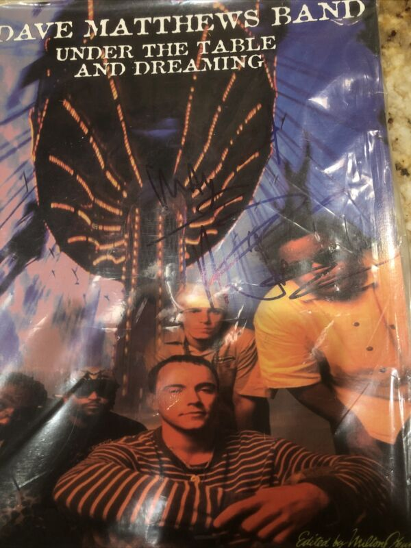 Dave Matthews signed book with date on it in person New York City after concert