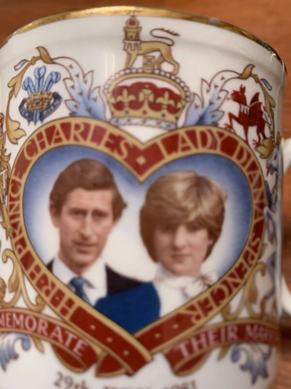 Royal Commemorative china mug for wedding of Prince Charles and Lady Diana 1981
