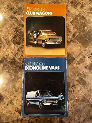Original 1976 Ford Club Wagon Van & Econoline Van Sales Brochure Lot Econoline Van Club Wagon