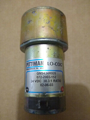 Pittman Lo-cog Motor Gm9434h920 24vdc 38.31 Ratio Used