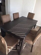 Dining table and 6 suede seats Lithgow Lithgow Area Preview