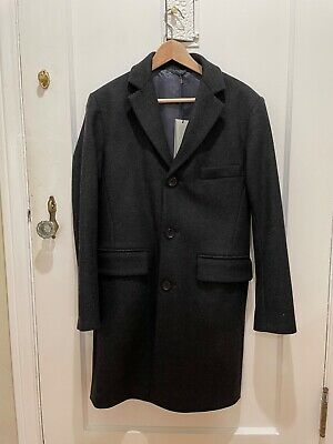 NWT Officine Generale Paris Alfie Wool Cashmere Coat Gray Size 34/44 XS/Small