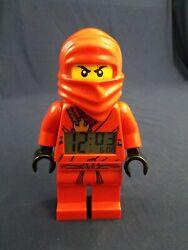 Lego Ninjago Mini Figure Minifig Alarm Clock (Kai) 9 Red Lights Up Tested Mint!
