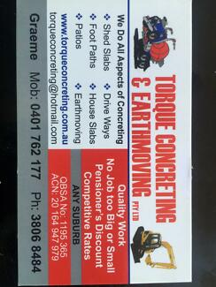 Torque concreting and earthmoving pry ltd Browns Plains Logan Area Preview