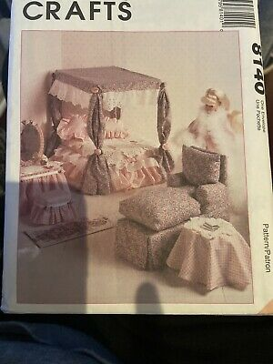 "McCalls sewing pattern 8140 furniture Living Room Bedroom 11.5-12.5"" doll Barbie"