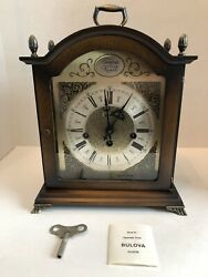 Bulova Tempus Fugit Westminster Chime Mantel Clock Made In Germany