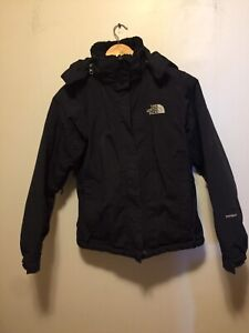 The North Face Black Hooded Winter Jacket Small