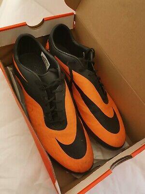 Nike Hypervenom Phantom Black Orange Football Boots Size UK 11 EU 45