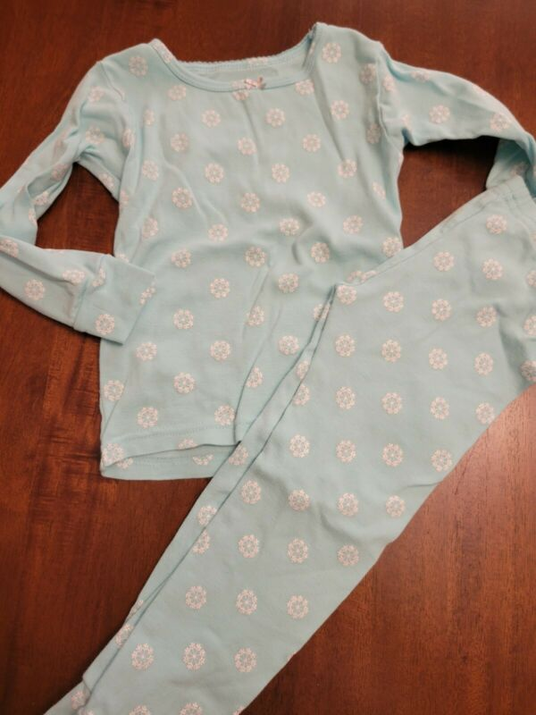 Girls Carters Two Piece Pajama Set Snowflakes Size 3t