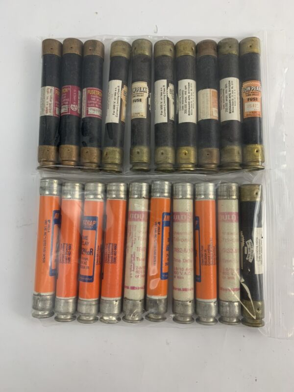 Lot Of 10 Assorted 2 8/10a 600v Fuses