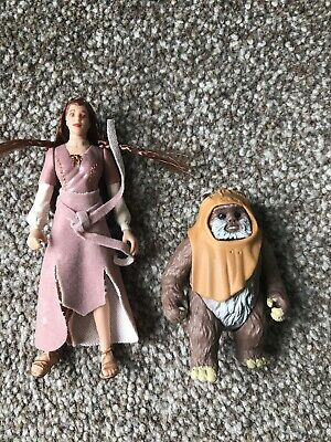 Star Wars Potf Kenner Princess Leia and Wicket the Ewok  Action Figure