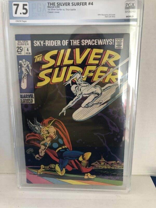Silver Surfer #4 (Marvel 1966) PGX Certified 7.5 Nice Cover.  (not CGC )