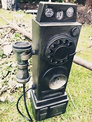 Animated Haunted Old School Telephone Halloween Decoration Prop Sound Phone Ring
