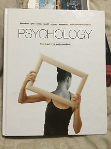 PSYCHOLOGY from Inquiry to Understanding, third Canadian ed.