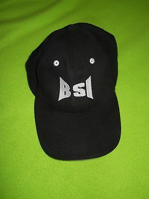 (New ~ Men's Black Ball Cap @ logo ~ white on brim edge ~ Adjustable)