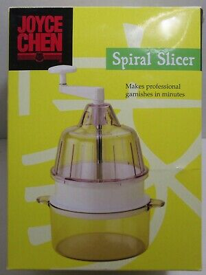 Joyce Chen Spiral Slicer White - Turn Vegetables Into Spaghetti-Like Strands-New