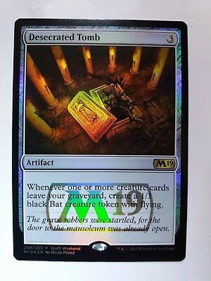 MTG Desecrated Tomb Magic 2019 M19 Draft Weekend Foil Promo