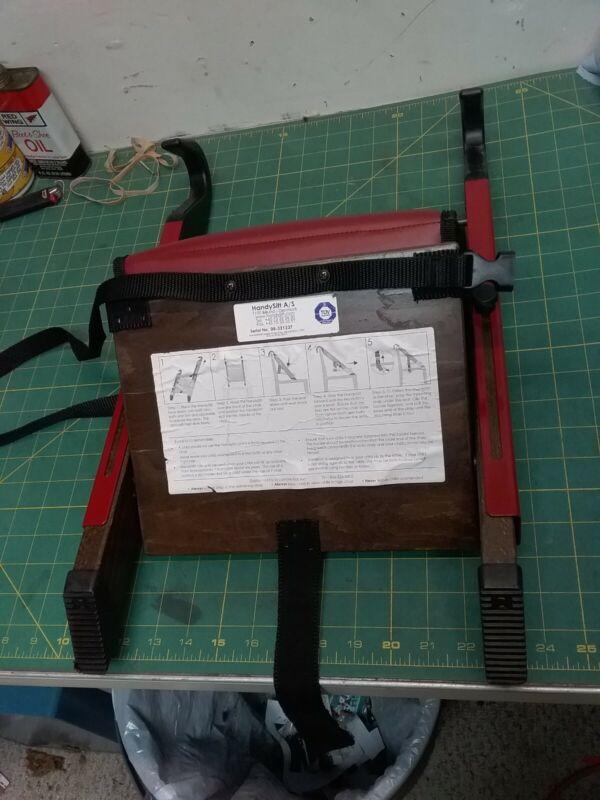 Stokke Handysitt Portable Child Baby Booster Seat  (Denmark) Red on Brown