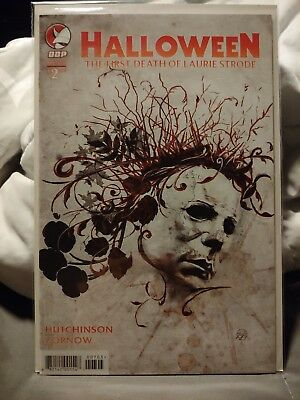Halloween Comic book the first death of Laurie Strode cover 2C unread condition - Laurie Strode Halloween 2