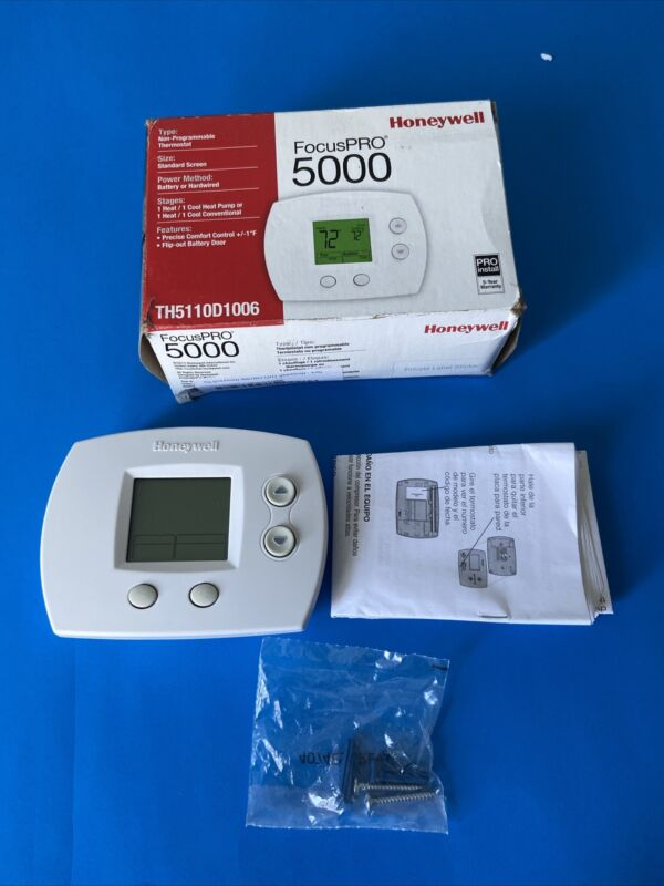 Honeywell Thermostat Focus Pro 5000 Th5110D1006 New Open Box.