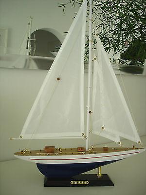 """""""Enterprise""""Segelyacht Segelboot Boote Modelle Maritim Schiffsmodell Neu No.41"""