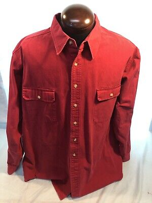 Mens CABELA'S 3XL-XXXL RED Heavy Cotton LS BF Lumber Jack -