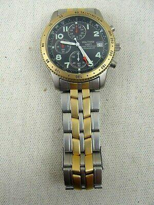 Waltham XAX 329 Gold/ Silver Stainless Steel Quartz Chronograph