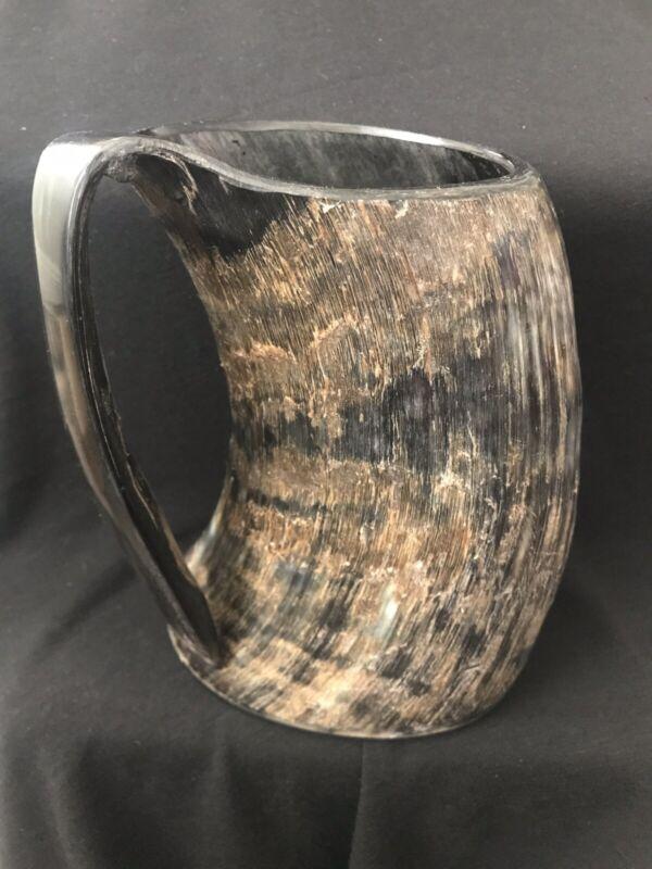 Extra Large Viking AleHorn Beer Ale Drinking Natural Horn Mug Tankard