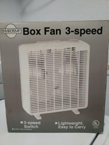 vintage 10 inch box fan 3 speed