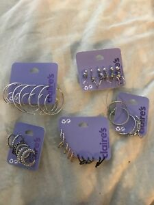 Assorted earrings from Claire's