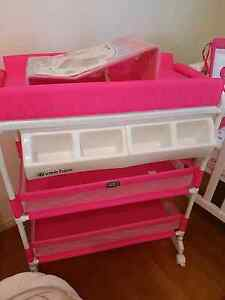 New never used hot pink baby girl change table with bath Woongoolba Gold Coast North Preview