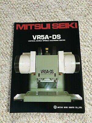 Mitsui Seiki Vr-5a-ds Cnc Vertical Double Spindle Machining Center Specification
