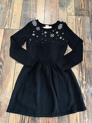 NWT Gymboree Holiday Snowflake Sweater Black Dress Girls Christmas Size - Holiday Snowflake Sweater