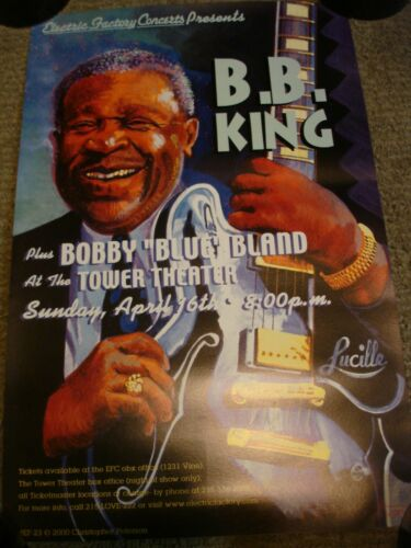 BB B.B. KING PLUS BOBBY BLUE BLAND PHILADELPHIA TOWER THEATER CONCERT POSTER