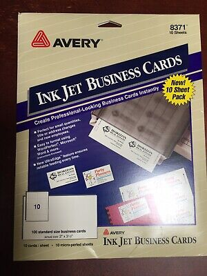 Avery White Business Cards 70 Pcs.7sheets - Avery 8371