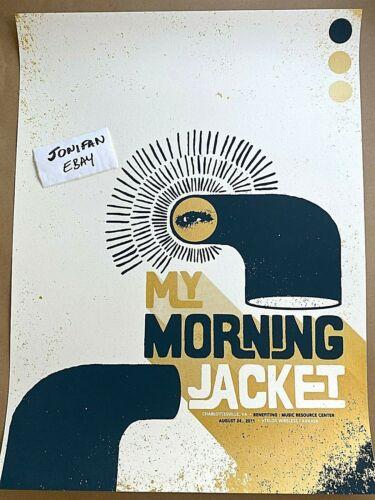 MY MORNING JACKET Charlottesville VA 2011 SCREEN PRINT SHOW POSTER ARTIST SIGNED